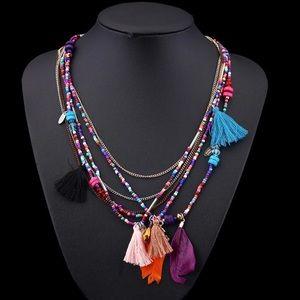 NWT Multi-Layered Tassel Necklace